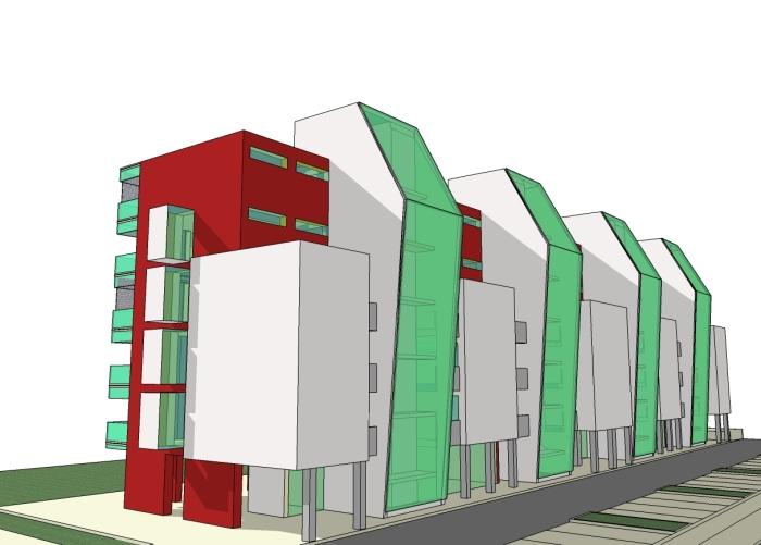 44 alloggi in classe B - alternative formali