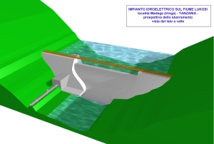 Hydroelectric Integrated Project Madege for S.C.S.F. o.n.g. (Madege, Iringa TZ) - Dam