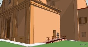 SMiS rampa per il superamento di barriere architettoniche: studio tridimensionale